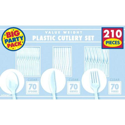 Clear Cutlery Set 210ct - Amscan
