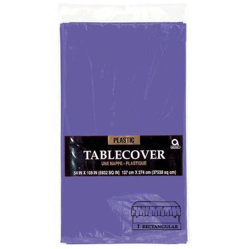 "New Purple 54""x108"" Plastic Table Cover - Amscan"