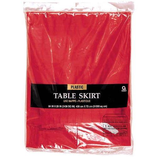 Apple Red Plastic Table Skirt - Amscan