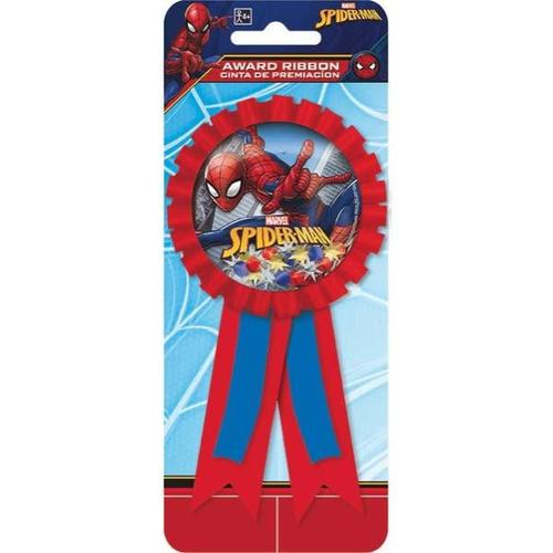 Spider Man Web Award Ribbon - Amscan