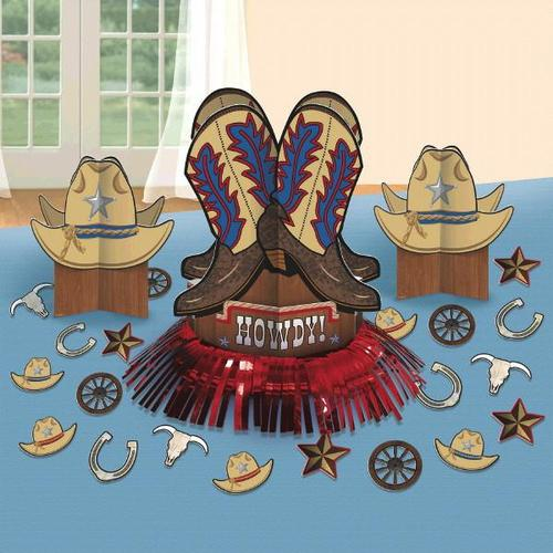 Yeehaw Western Table Decorating Kit - Amscan