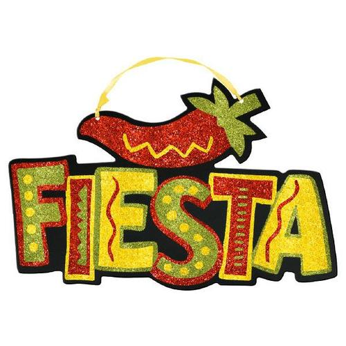 Fiesta Value Sign W/Glitter - Amscan
