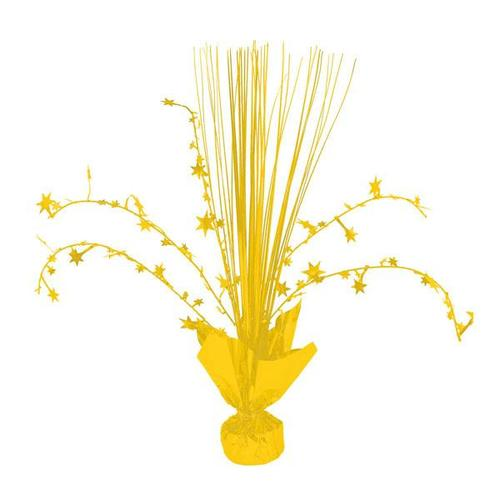 Yellow Sunshine Foil Spray Centerpiece - Amscan