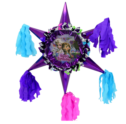 3D Star Piñata Staple Free - Frozen - Piñata District