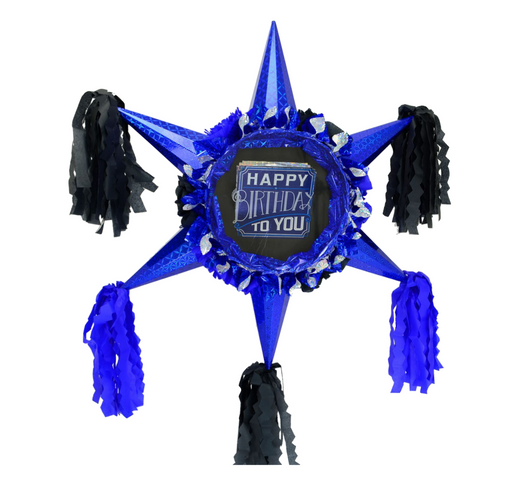 Happy Birthday Man! - 3D Star Piñata Staple Free - Piñata District