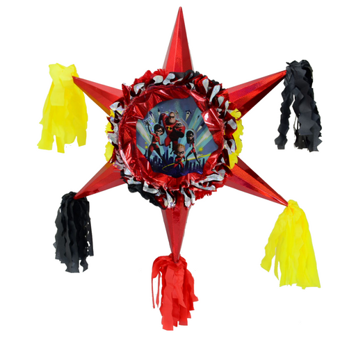 3D Star Piñata Staple Free - Incredibles - PINATA 3D