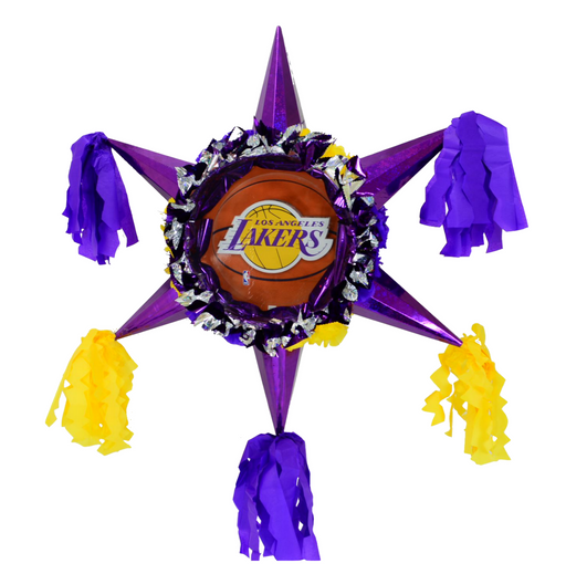 3D Star Piñata Staple Free - Lakers - Piñata District