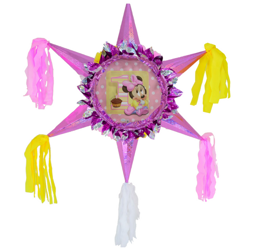 3D Star Piñata Staple Free - Minnie Fun2b1 - Piñata District