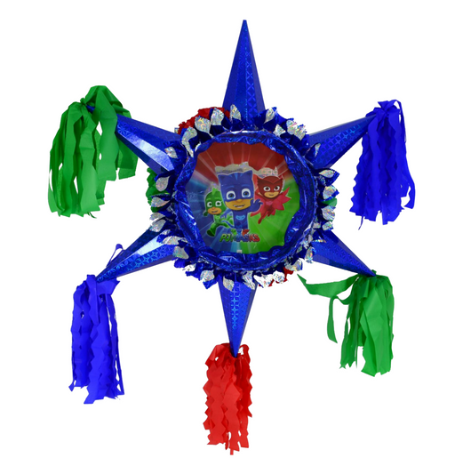 3D Star Piñata Staple Free - Pj Masks