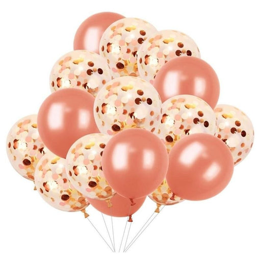 20pcs/set Gold Latex Confetti Balloons - Piñata District