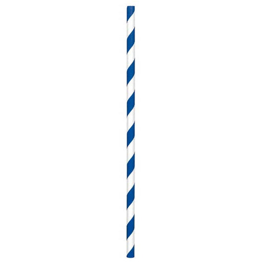 Paper Straws Royal Blue 80ct - Amscan