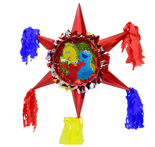 3D Star Piñata Staple Free - Sesame Street - Piñata District