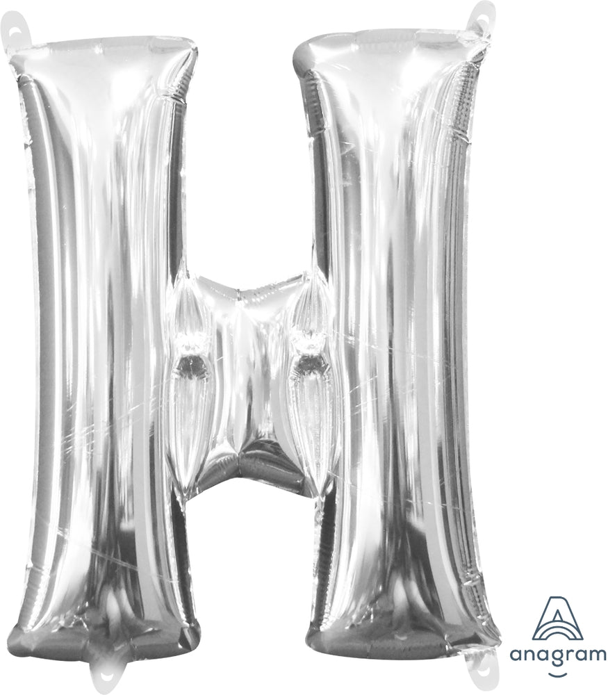 Supershape Silver Letter H Balloon - Anagram