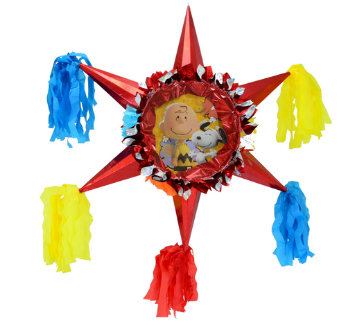 3D Star Piñata Staple Free - Snoopy & Charlie Brown