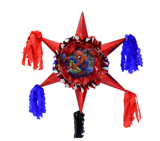 3D Star Piñata Staple Free - Spider-Man - Piñata District