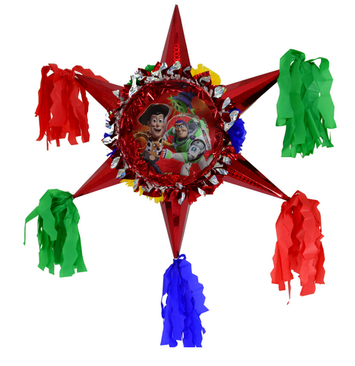 3D Star Piñata Staple Free - Toy Story - Piñata District