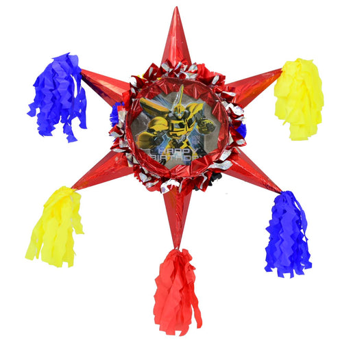 Transformers - 3D Star Piñata Staple Free - Piñata District