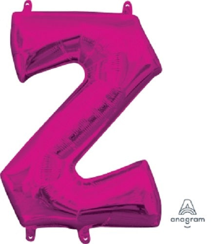 Supershape Pink Letter Z  Balloon - Anagram