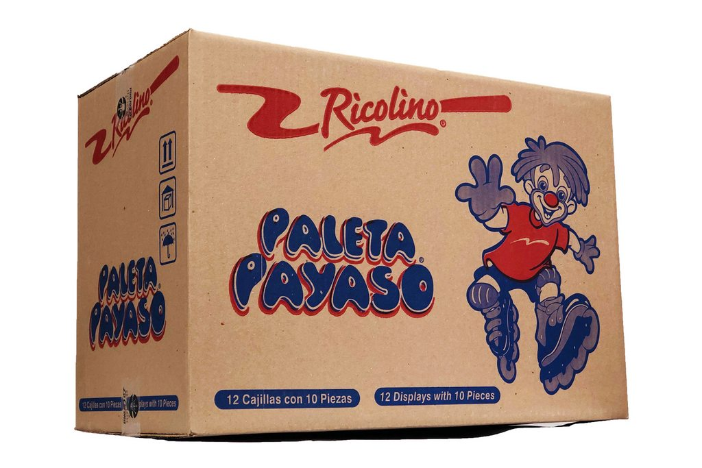 Paleta Payaso Display 12/10 - Case - Ricolino