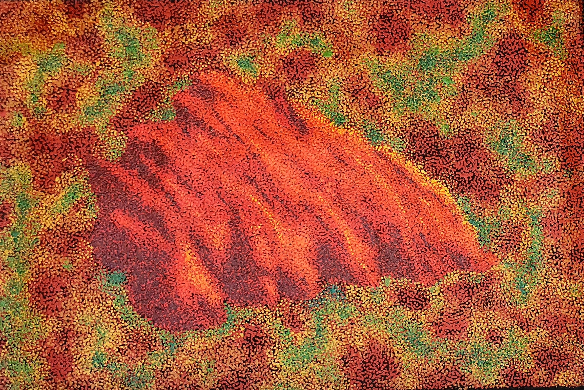 'Ayers Rock'<br>William King Jungala<br>60x90cm