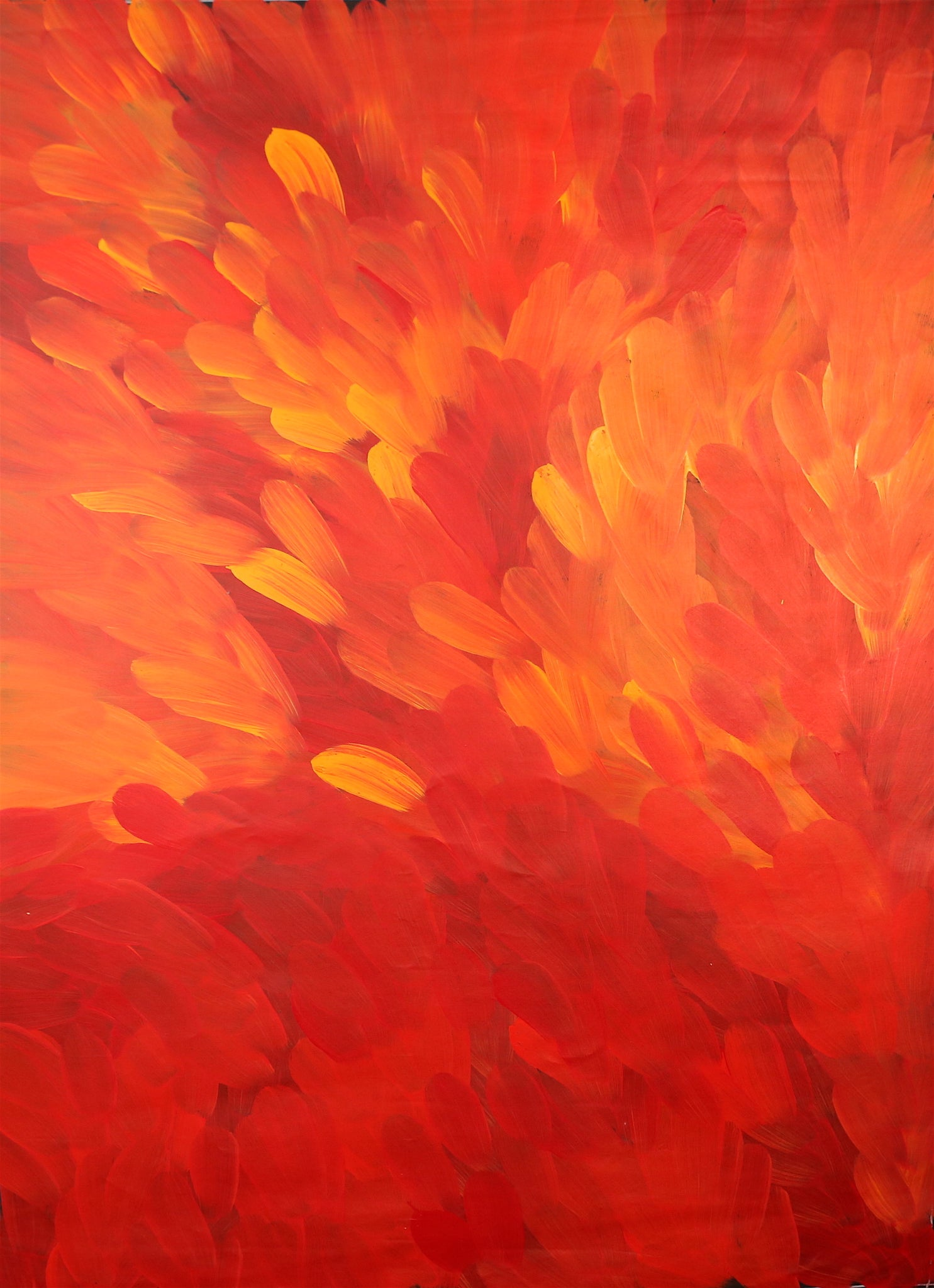 'Bush Medicine Leaves'<br>Gloria Petyarre<br>132x98cm