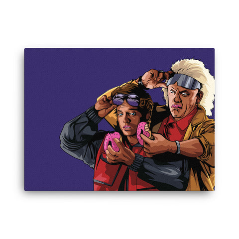 Donuts to the Future Canvas
