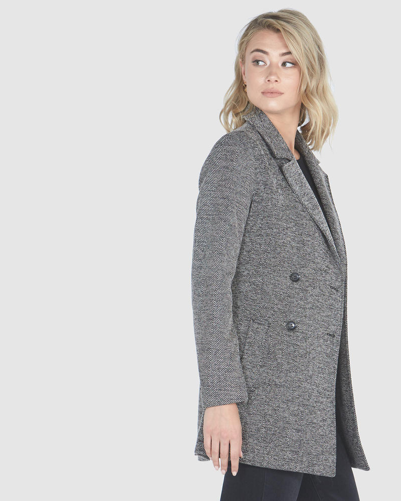 Double Breasted Blazer-Jackets-Privilege-Lincoln St. Clothing