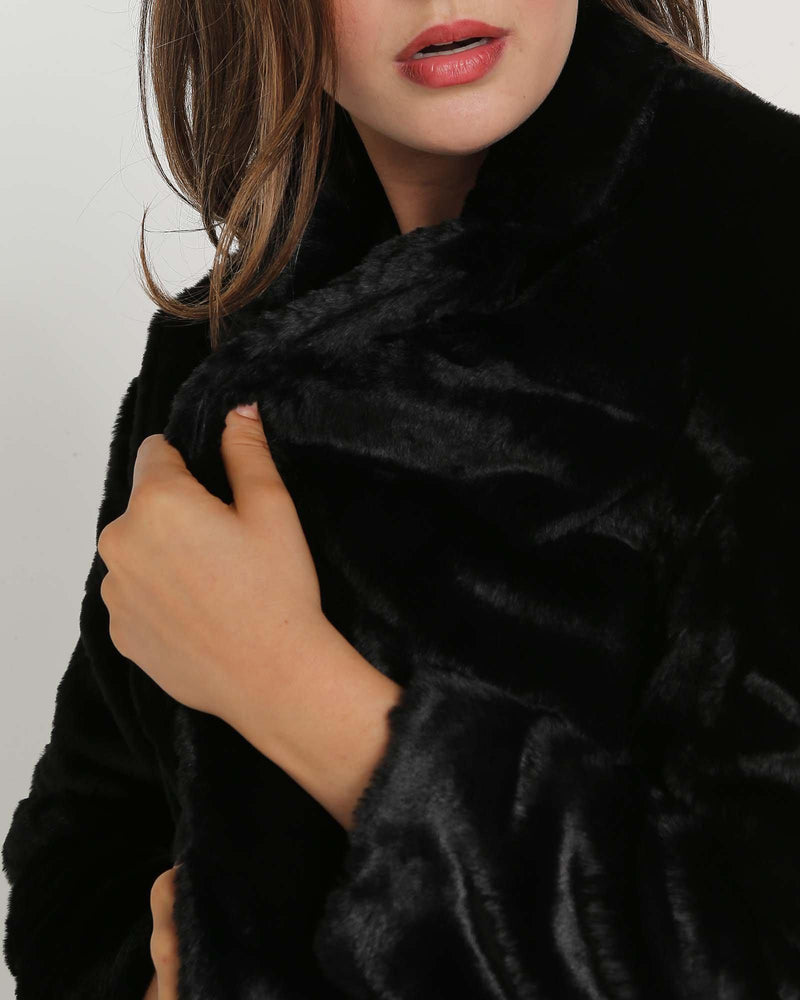 Unreal Faux Fur Coat-Jackets-Faye Black Label-Lincoln St. Clothing