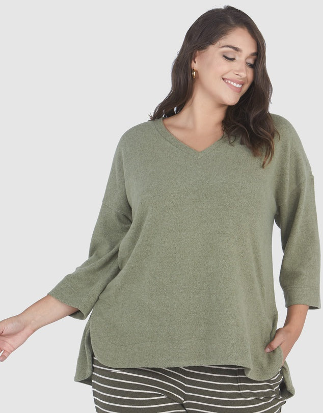 Assembly Side Split Sweater-Fashion Tops-Advocado Plus-16-Lincoln St. Clothing