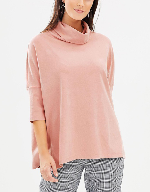 Turtle Neck Sleeved Top