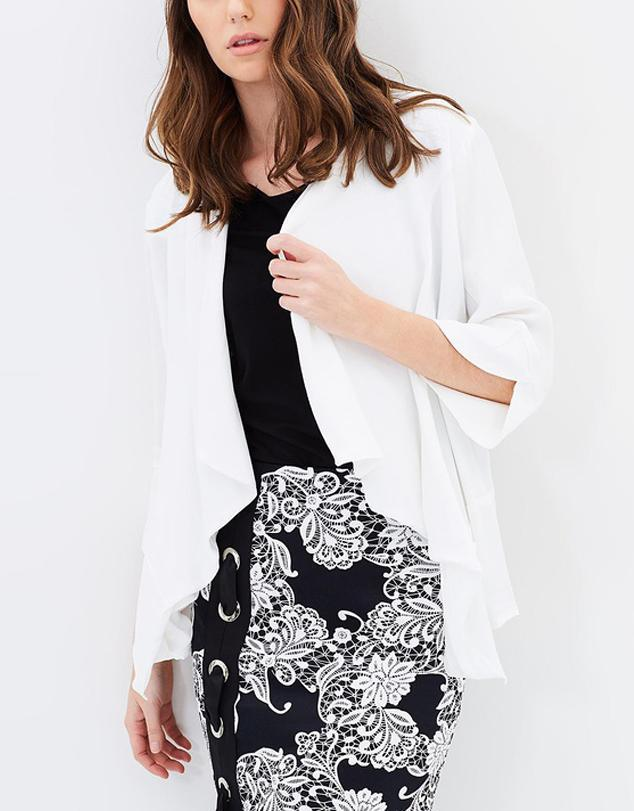 Crystal Falls Draped Front Jacket