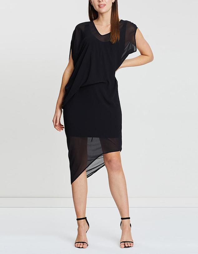Drape Tuck Dress