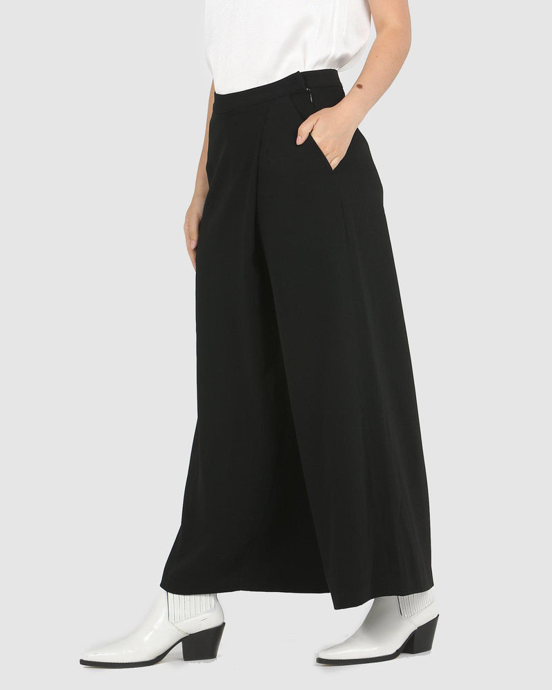Fold Over Ankle Culotte-Pants-Faye Black Label-Lincoln St. Clothing