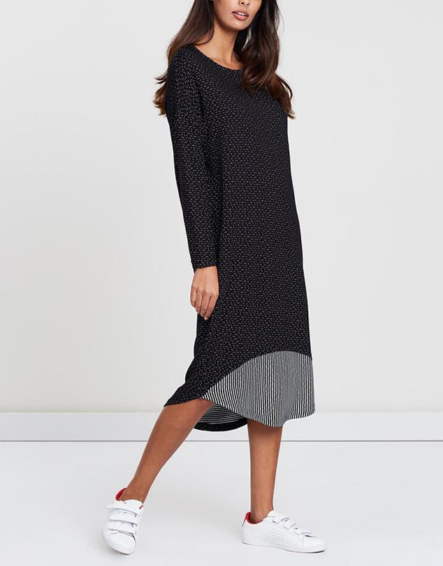 Inset Panel Dress-Dresses-Privilege-Lincoln St. Clothing