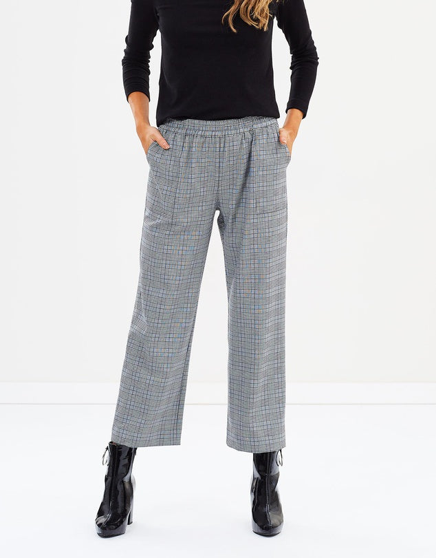 Relaxed Check Pants