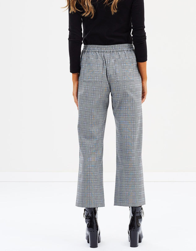 Relaxed Check Pants-Pants-Privilege-Lincoln St. Clothing
