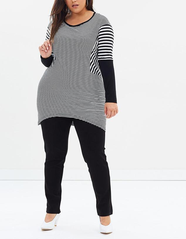 Stripe Out Spliced Top