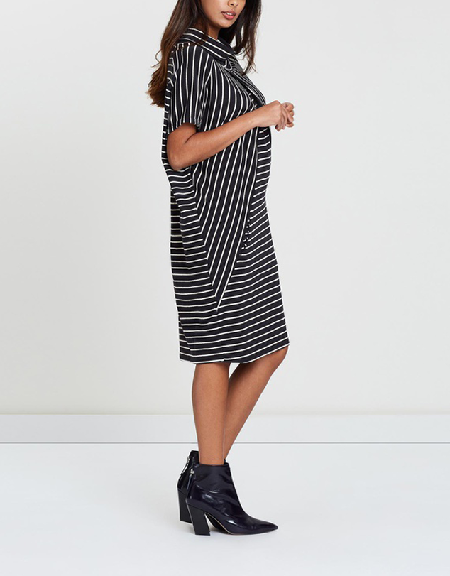 Striped Tent Dress-Dresses-Privilege-Lincoln St. Clothing