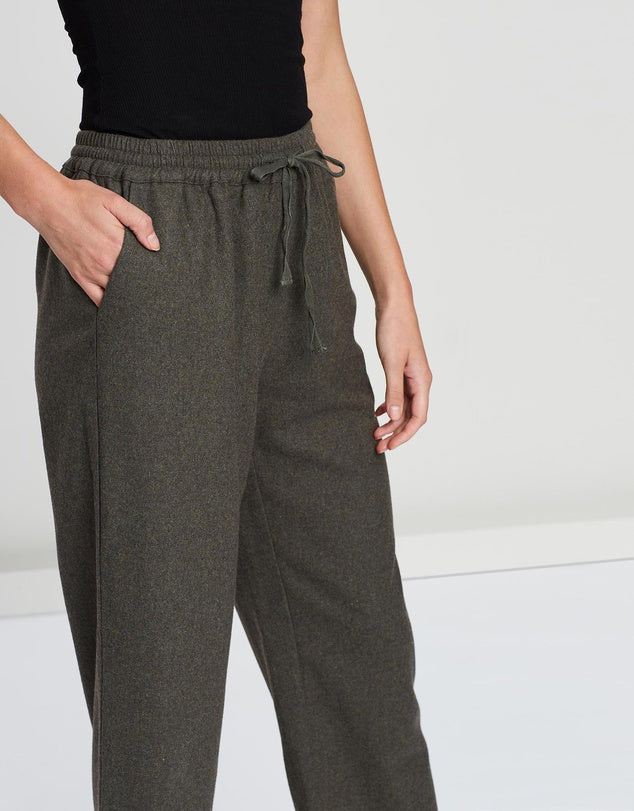 Wide Leg Crop Trousers-Pants-Faye Black Label-Lincoln St. Clothing