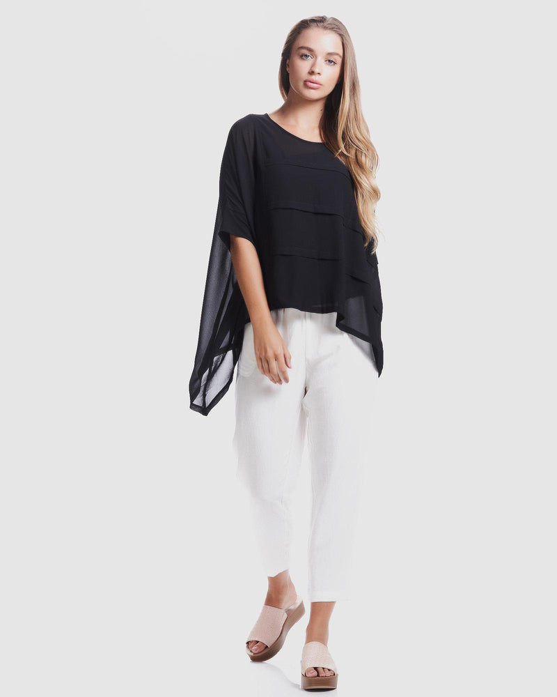 Frame Pleat Top