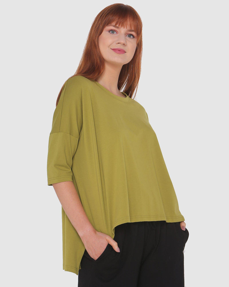 High Low Top-Fashion Tops-Lincoln St-Chartreuse-Lincoln St-8-Lincoln St. Clothing