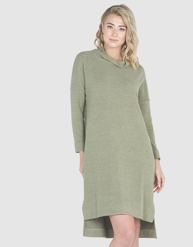 Slouch Cowl Neck Dress-Dresses-Privilege-8-Fern-Lincoln St. Clothing