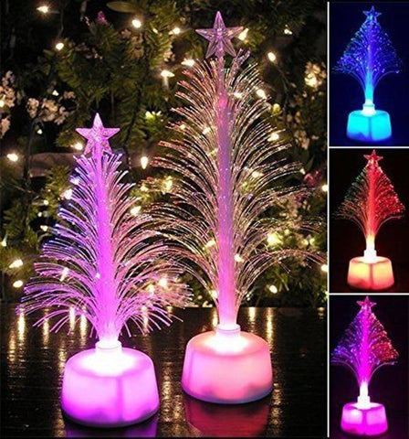 Artificial Small Fiber Optic Christmas Tree with LED Light in 7 different colors