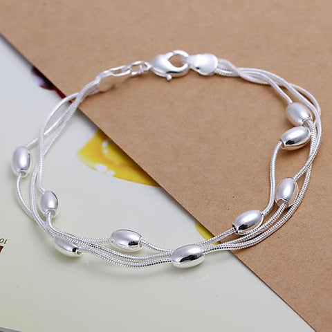 Fency Three Lines | Silver Bracelet for Women