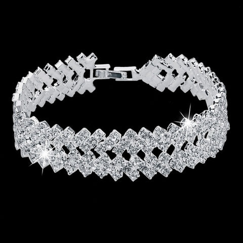 Luxury Crystal Silver Bracelets | 5 Variants