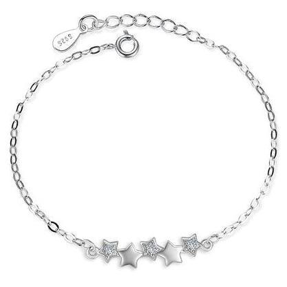 Stars with Zircons | Silver Bracelet for Women