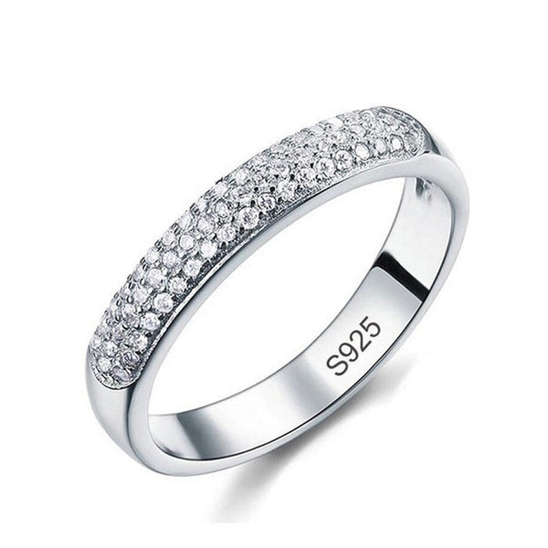 Many Luxury small Zircons, 925 Sterling Silver, Ring for Women