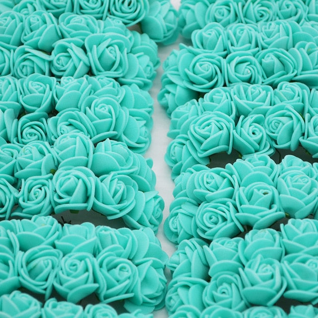 Crafts to do at home with baby blue roses