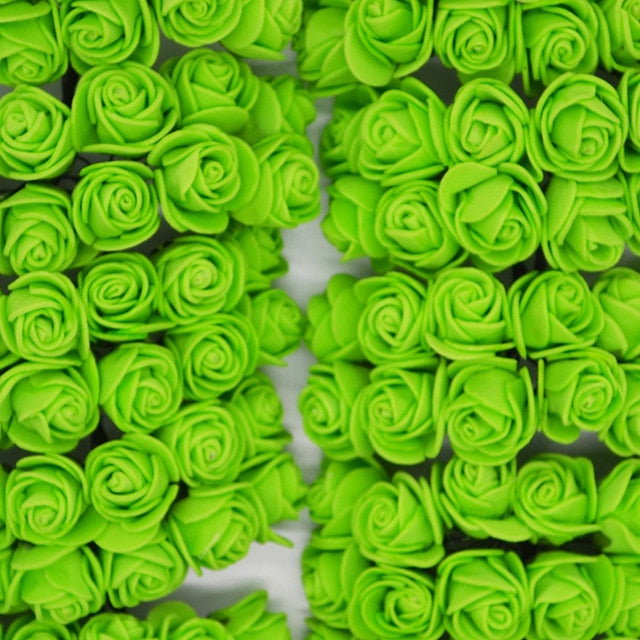 5 minute crafts for kitchen with beautiful artificial green roses