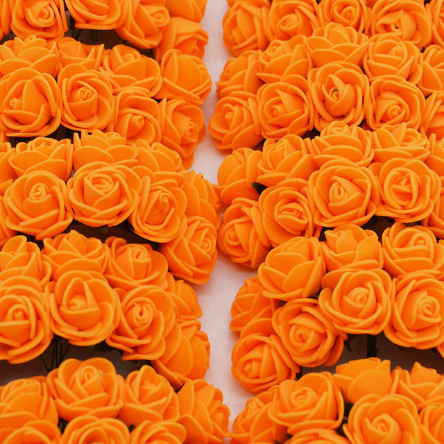 5 minute crafts flowers - Orange artificial roses